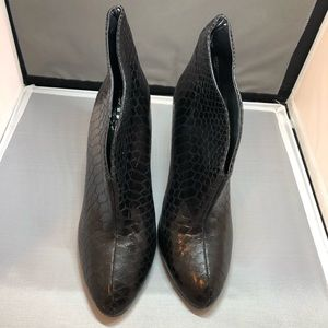 Vince Camuto Snake Print Leather Booties